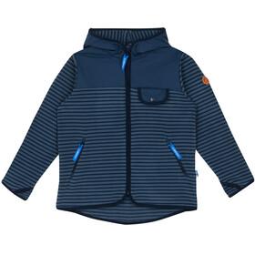 Finkid Kids Mukava Fleece Jacket blue mirage/navy